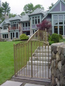 Bronze Pedestrian Gate at a private residence.