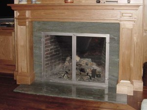 Glass fireplace enclosure