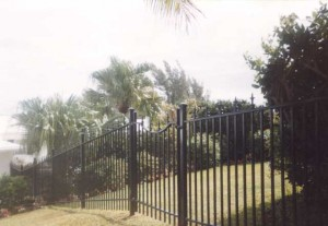 Wrought Iron Pedestrian Gate Private Residence in Bermuda