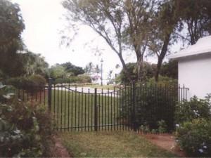 Wrought Iron Pedestrian Gate Private Residence in Bermuda