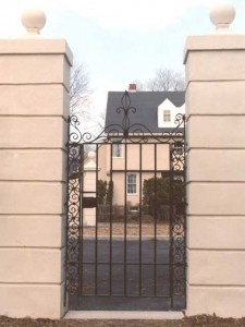 Wrought Iron Pedestrian Gate For A Private Residence