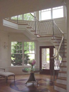 Wrought iron railings at a private residence.