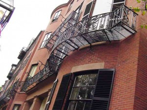 Custom fabricated grate for an antique beacon hill balcony.