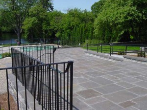 Wrought iron railings for Pingree School, South Hamilton, MA