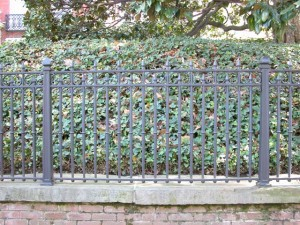 Cast iron fence. Private Residence, Washington, DC