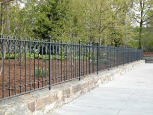 400 feet of hand forged wrought iron fence for the Washington National Cathedral in Washington, DC.