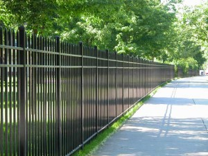 Emmanuel College in Boston, MA. Perimeter Fence and gates. Completed May 2003.