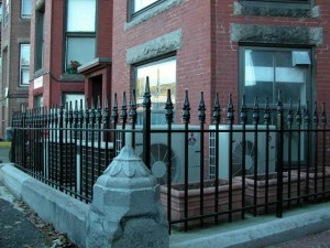 Wrought iron fence for condominium.