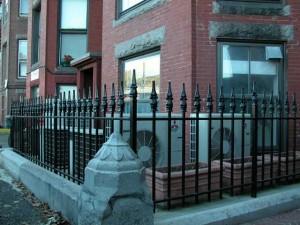 Wrought iron fence for condominium.