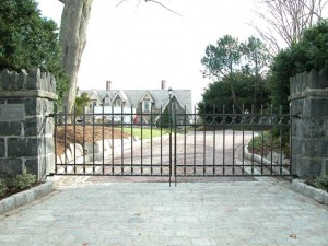 Wrought Iron Gate Private Residence