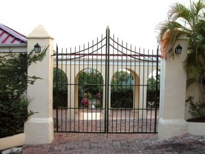 Wrought Iron Gates for the Innovative Communications Company in St. Croix.