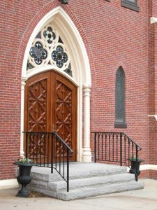 Entry Stair Railings for the Immaculate Conception Church in Newburyport, MA