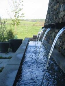 Bronze fountain grates and spouts, 2002, Warrenton, VA (Designed by John A Kett, ASLA, Reed Hilderbrand Associates Inc, Watertown, MA)