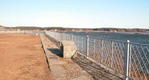 Wrought iron fence designed for the Army Corps of Engineers and used at Fort McCleary, Fort Foster, Fort Strong, Fort Weatherall and Fort Adams. The above is a photo of the fence at Fort McCleary, Kittery Point, Maine.