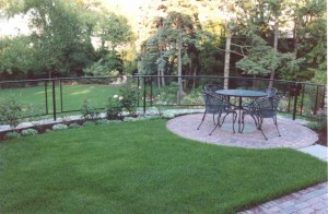 Wrought iron and lexan railings