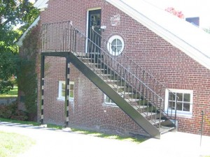 Outside Staircase crafted for the Governors Academy in Byfield, MA