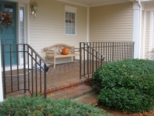 Wrought iron railings at private residence.
