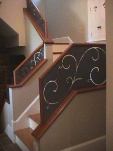 Wrought iron railings Waterjet carving