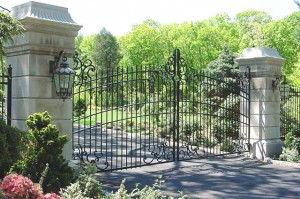 28' wide by 14' tall entry gates at private residence.