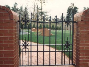 Wrought Iron Pedestrian Gate Private Residence