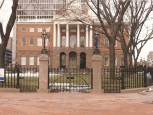1000 feet of perimeter fence and gates from cast iron and steel. Old State House in Hartford, CT.
