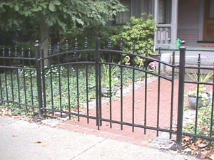 Wrought Iron Pedestrian Gate at Private Residence