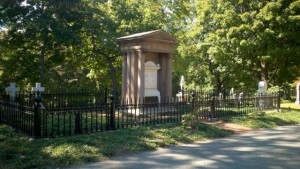 Made an exact copy of the existing cast iron fence at the Shaw Memorial for Mt Auburn Cemetery in Cambridge, MA. Also made two new gates and restored the existing fence that was across the back of the plot.