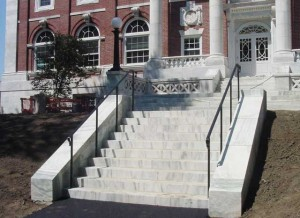 Wrought iron railings at Tufts University, Eaton Hall, Medford, Massachusetts
