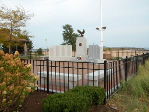 World War II Veterans Memorial, South Boston, MA: Perimeter fence and gates with colorgalvanized finish, 2004.