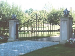 Entry gates at private residence in Southport, CT.