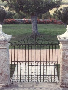 Wrought Iron Garden Gate Private Residence