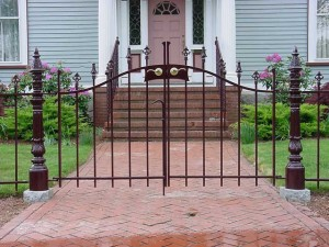 Wrought Iron Pedestrian Gate at Private Residence.