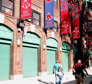 Cassidy Bros. crafted waterjet carved lanterns for Fenway Park, Boston, MA, home of the Boston Red Sox.