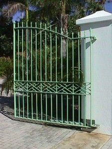 Entry gates for a private residence in St. Croix, US Virgin Islands