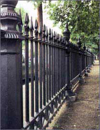 wrought iron fence on Salem Common, Salem MA