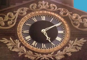 New bronze clock face for the Old State House(Finished in gold leaf), Boston, MA