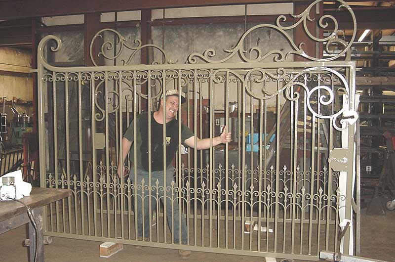 Completed Gate With Waterjet Cut Scrolls
